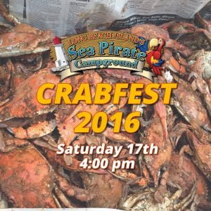 Read more about the article Crab Fest Weekend is Here at Sea Pirate Campground