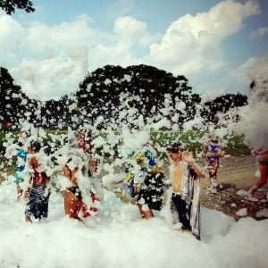 Summertime Suds and Water Gun Party Outdoors