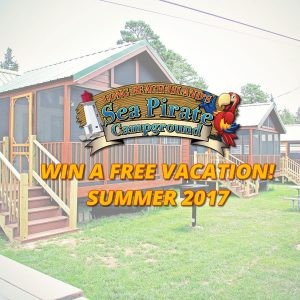 WIN A FREE VACATION at Sea Pirate Campground Summer 2017