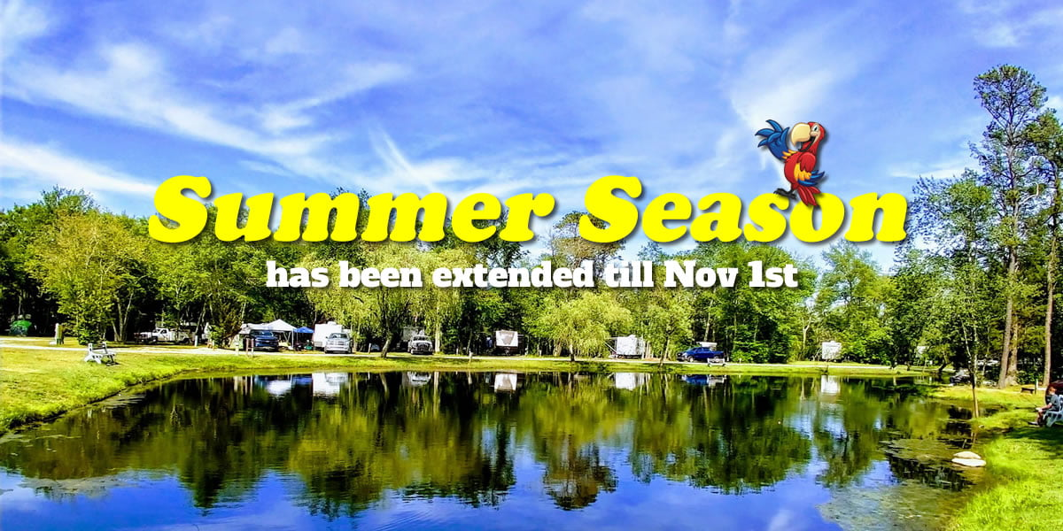 Our Summer Season 2020 has been Extended till Nov 1st!
