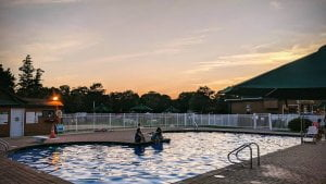 Read more about the article Camping, laughing, toasting all-day deserves a night swim. Stay tuned campers; w…