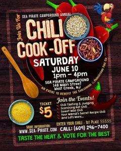 Enter your favorite Chili, or for $5.00 donation become a taste tester and judge…