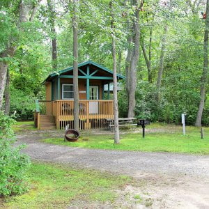 Read more about the article Our cozy cabin can fit up to six people. Perfect for a weekend getaway with  fam…