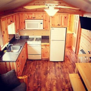 Our cozy cottage with 2 bedrooms, queen size beds and bunk beds, pull out futon,…