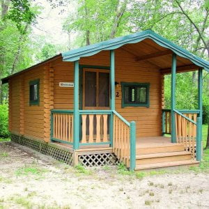 Our cozy two room cabins are who want the camping experience without their own c…