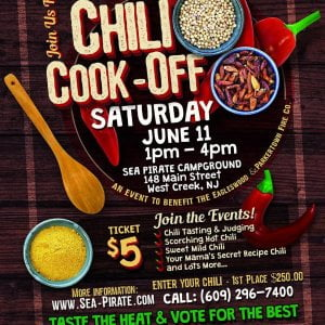 Read more about the article Sea Pirate Campground annual Chili Cook off to benefit the  &  Fire Company. Ple…