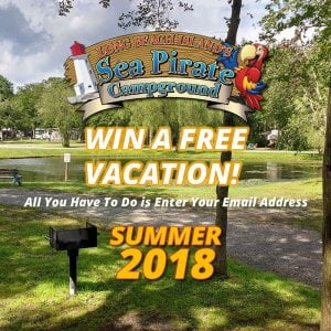 Win a free vacation at Sea Pirate Campground! All you have to do is enter your e…