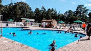 Read more about the article Did you know our pool is heated? You can simmer all night long!  Only a few mor…