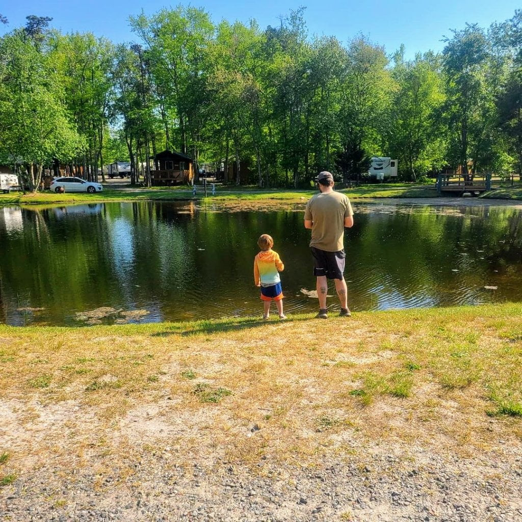 Father & Son Fishing Sea Pirate Campground